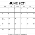 June 2021 Calendar In 2020 | Calendar Template, Calendar