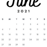 June 2021 Minimalist Printable Calendar Template In Minimal