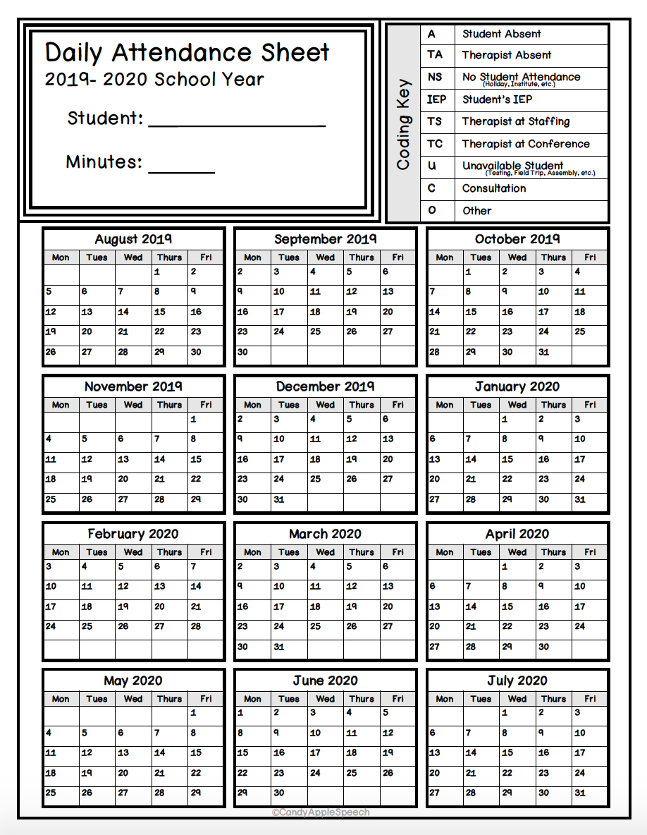 Keep Track Of Attendance With This Simple Form!   Attendance