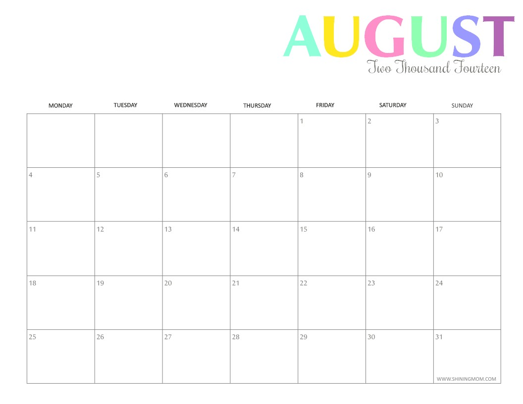 Lovely Printable Mom Calendar | Free Printable Calendar Monthly