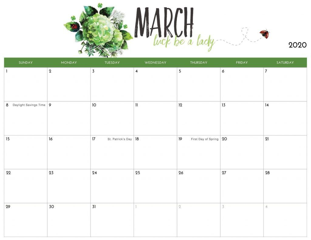 March 2020 Calendar Us In 2020 | Calendar 2019 Printable