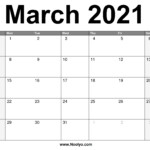 March 2021 Calendar Printable – Free Download – Noolyo