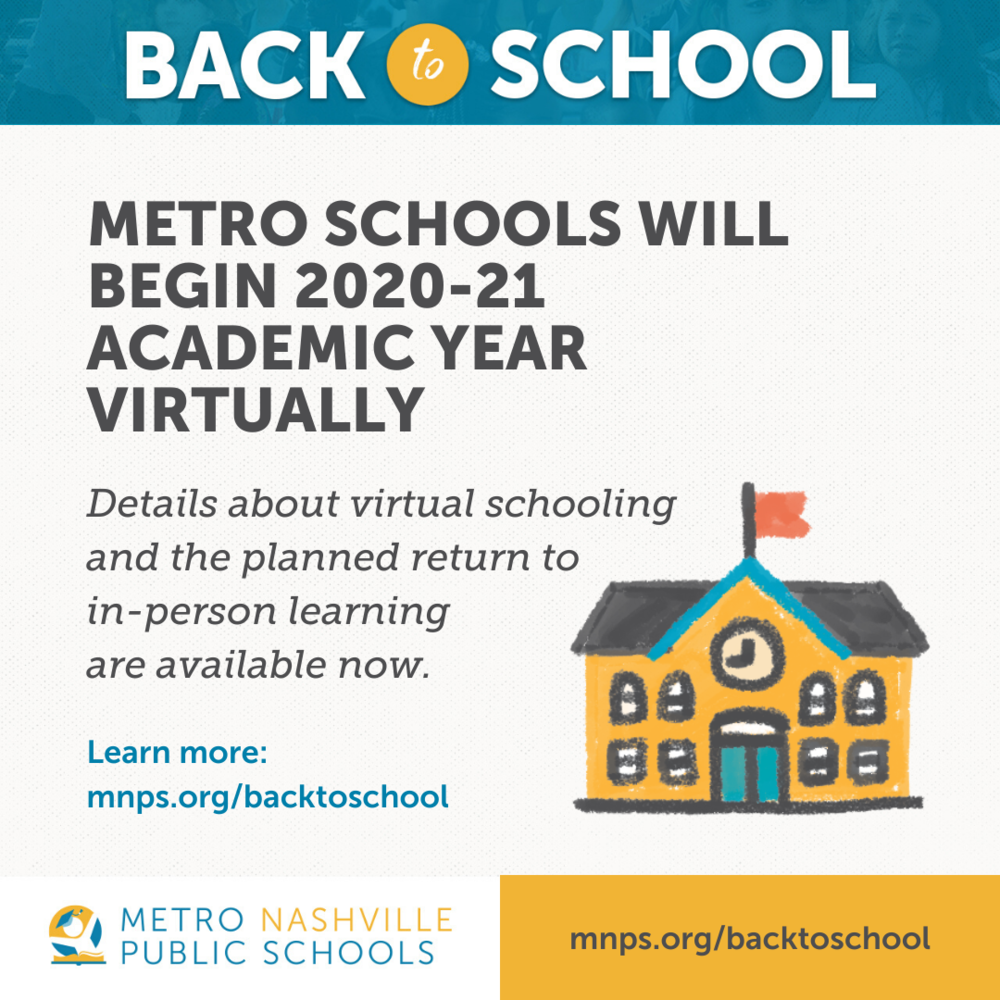 Metro Schools Will Begin 2020-21 School Year Virtually