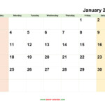 Monthly Calendar 2021 | Free Download, Editable And Printable