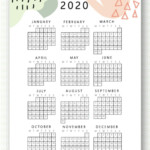 New 2020 And 2021 Calendar Printable | Monthly Planner