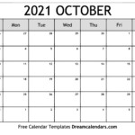 October 2021 Calendar | Free Blank Printable Templates