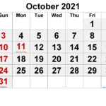 October 2021 Calendar Free Printable-Template No.ar21Fm58