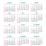 Pocket Calendar Layout For 2021 Year Royalty Free Vector