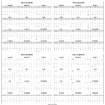 Printable 2018 2019 2020 2021 Calendar Template | 4-Four