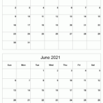 Printable 2021 Calendar - Two Months Per Page | Free
