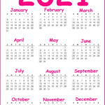 Printable 2021 Calendar Yearly - Free Download - Hipi