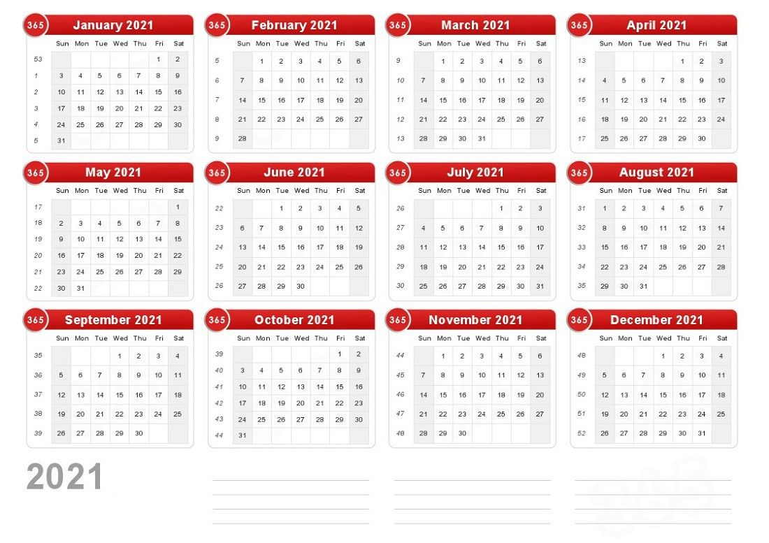 Printable A4 Calendar 2021 Full For Scheduling The Work 2020