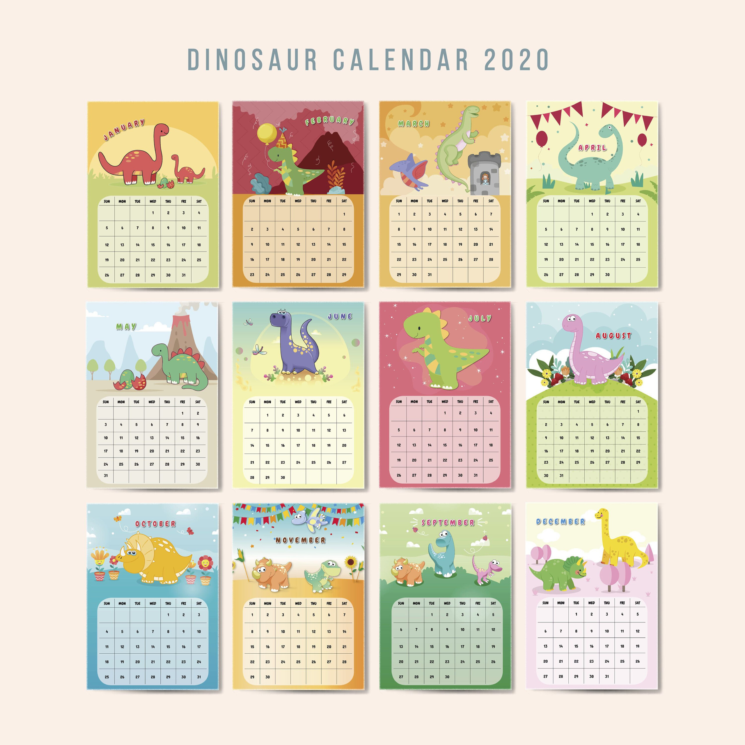 Printable Calendar 2021-2020 Wall Calendarmonthly | Etsy In