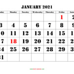 Printable Calendar 2021 | Free Download Yearly Calendar