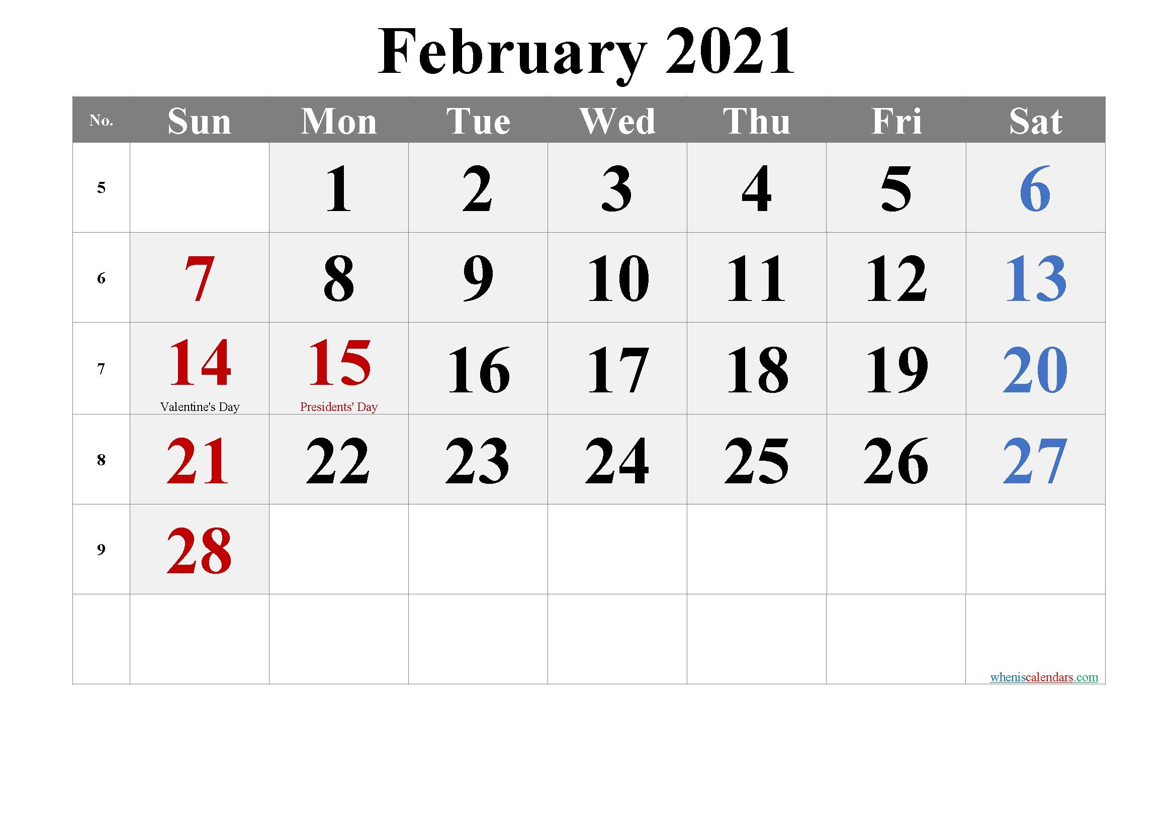 Printable Calendar January February 2021 In 2020 | Printable