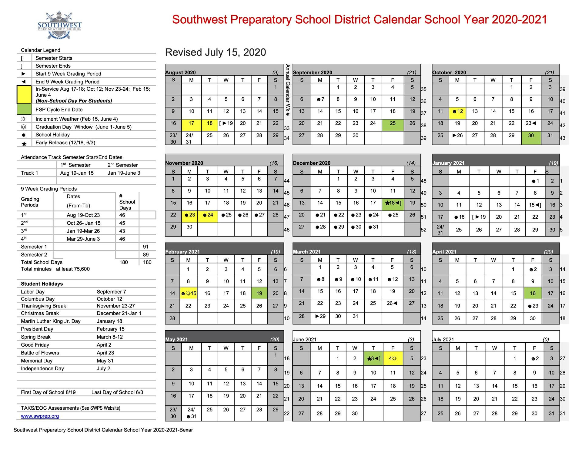 San Antonio School Calendars And Covid Resources, Updated