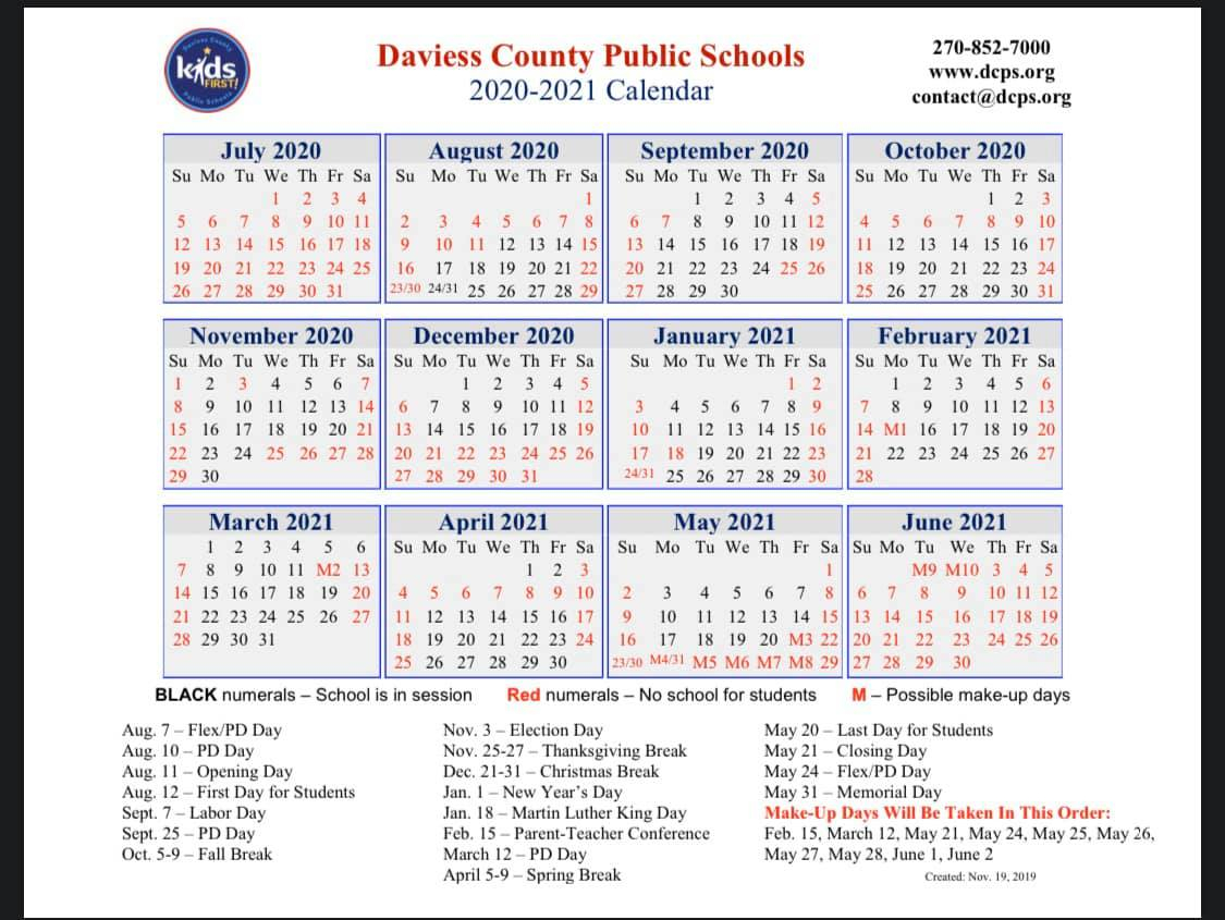 School Districts Approve 20-21 Calendars - The Owensboro Times