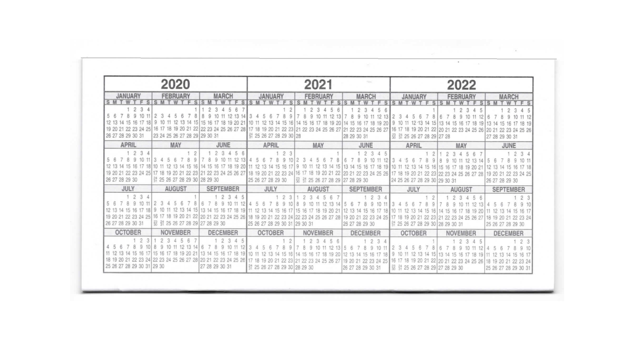 Set Of 6 50 Page Checkbook Transaction Registers With 2020