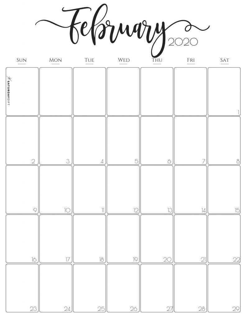 Simple & Elegant Vertical 2021 Monthly Calendar - Pretty