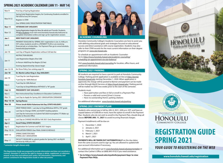 Spring 2021 Registration Guidehonolulu Community College