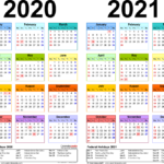 Template 2: Pdf Template For Two Year Calendar 2020/2021