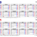 Two Year Calendars For 2020 & 2021 (Uk) For Word