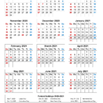 Calendar With School Holidays 2021