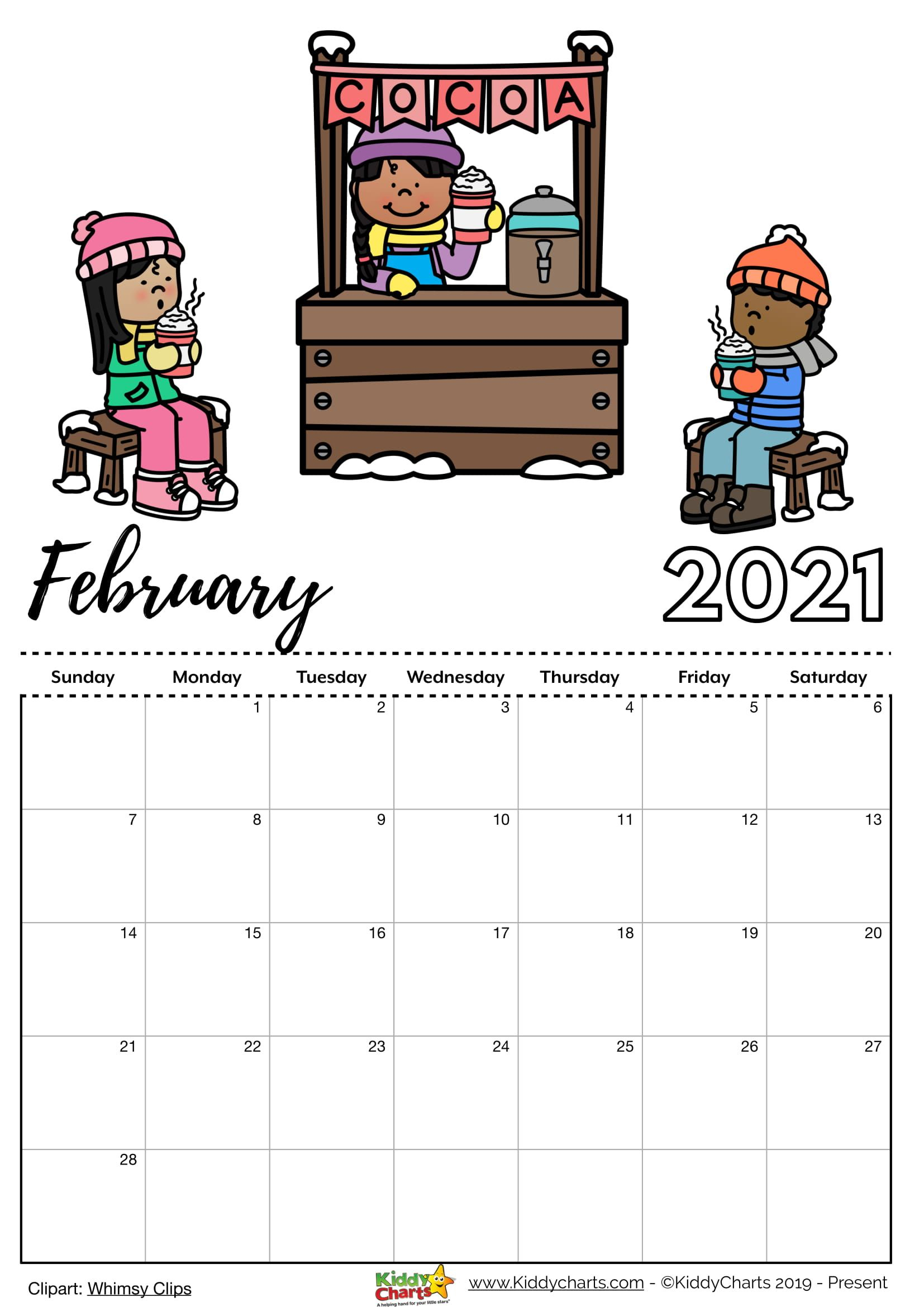 Check Our New Free Printable 2021 Calendar! In 2020 | Kids