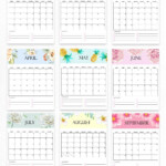 Cute Stuff | Monthly Calendar Printable, Print Calendar
