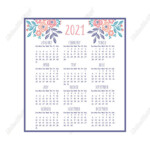 Design Free 2021 Mini Calendar Printable Svg Files