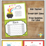 Fingerprint Calendar 2020- 2021 | Kids Calendar, Preschool