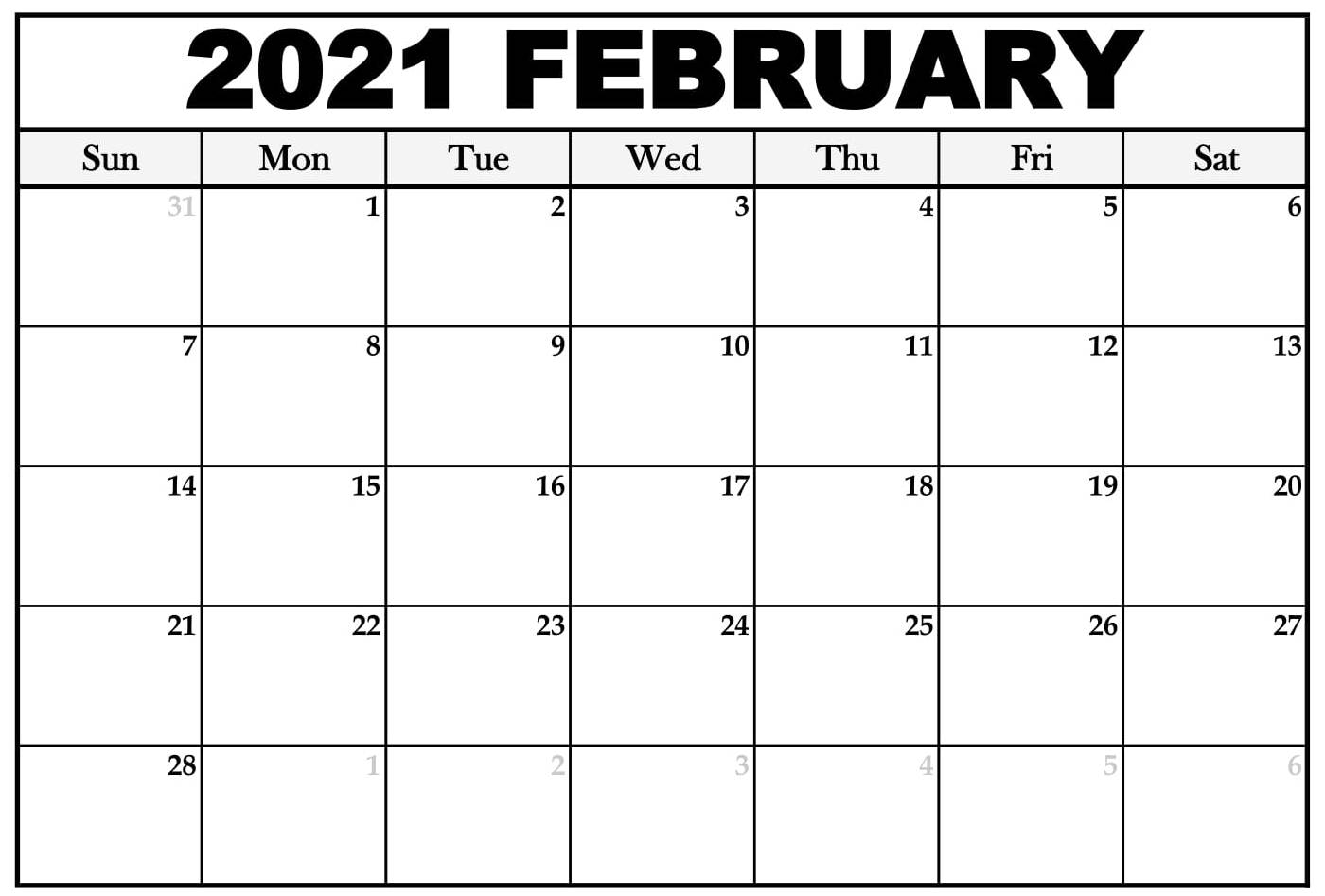 Free February 2021 Calendar Nz Vacations List Printable