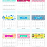 Free Monthly Calendar 2021 Printable: Super Cute Style! In