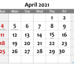 Free Printable April 2021 Calendar In 2020 | Calendar