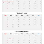 Free Printable July August September 2021 Calendar 3 Months