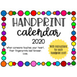 Handprint Calendar Gift Idea - Teaching Mama