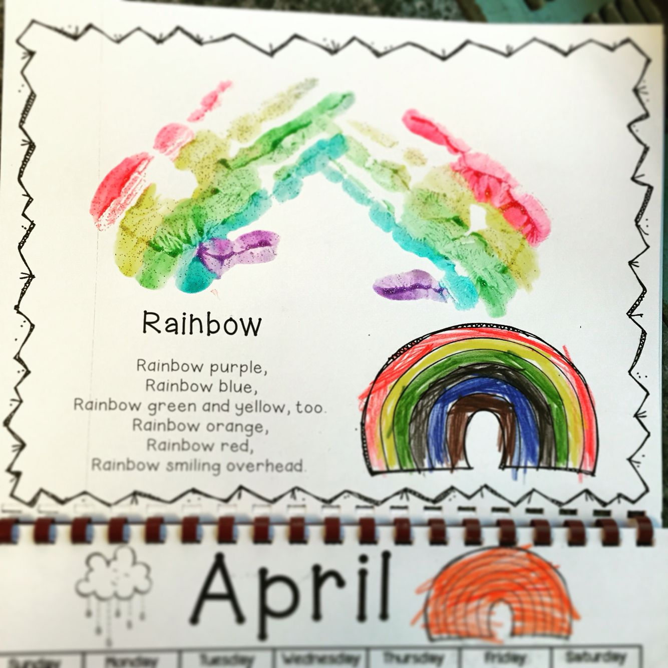 Handprint Calendar. Makes A Great Gift For Parents! Check It
