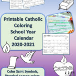 Printable Catholic School Year Calendar To Color