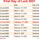 When Is First Day Of Lent 2021?