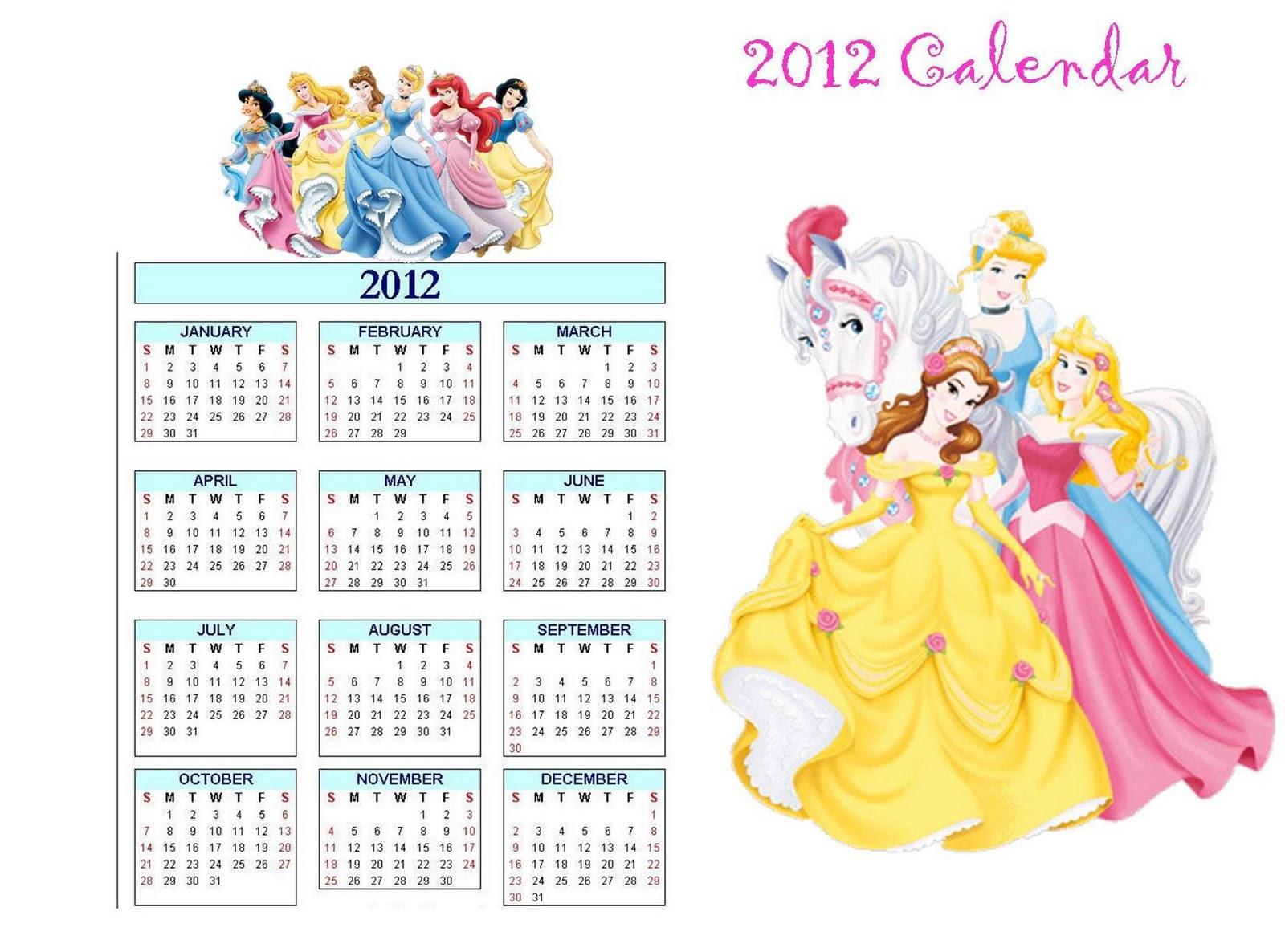 2012 Printable Disney Calendar For Kids: How To Make Your Own