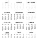 2020-2021 School Year Calendar Free Printable | Paper Trail