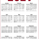 2021 Calendar Printable One Page Free - Free Download - Hipi
