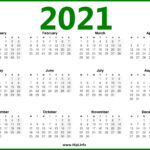2021 Calendar Uk - Monday Start - Hipi