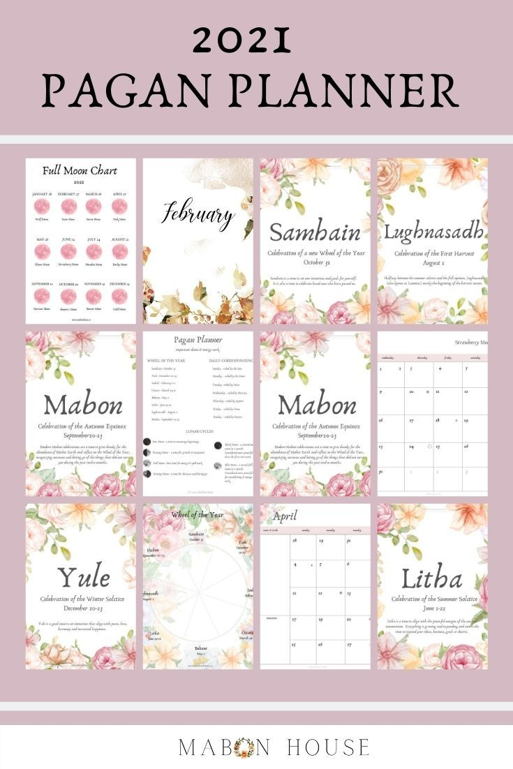 2021 Pagan Planner | Printable Planner | Pagan | Wiccan