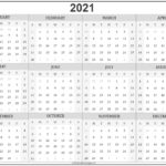 2021 Yearly Calendar Template Printable – Welcome For You To