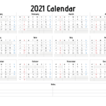 2021 Yearly Calendar Template Word – 21Ytw17 In 2020