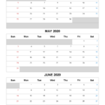 April May June 2021 Free Printable 3 Month Calendar-No