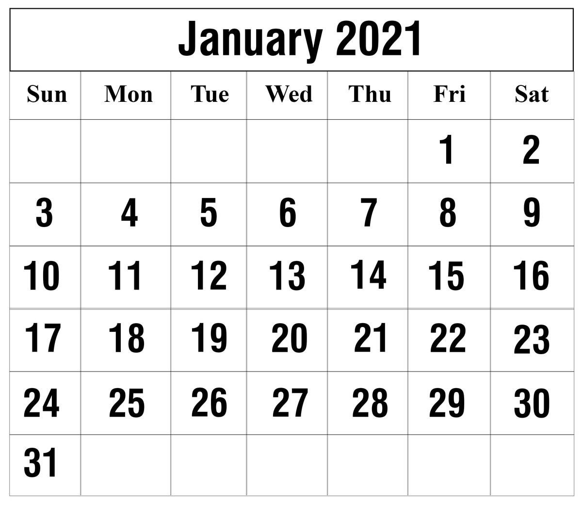 Calendar For January 2021 Project In 2020 | 2021 Calendar