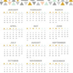 Colorful Yearly Calendar Template With Notes 2021 Word - Set
