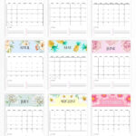 Free Calendar 2021 Printable: 12 Cute Monthly Designs To